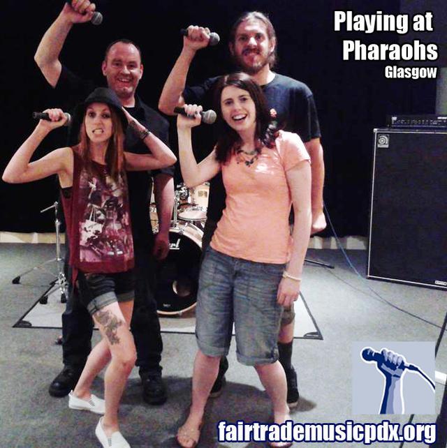 Playing at Pharaohs mic salute